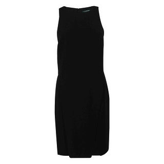 Ralph Lauren Women's Sleeveless Crepe Dress - Black