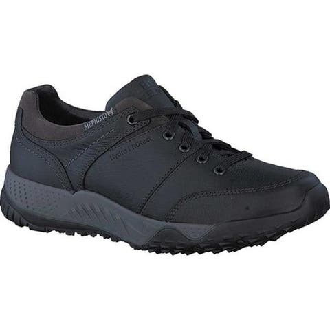 Mephisto Men's Fabiano Sneaker Black Smooth Leather/Suede