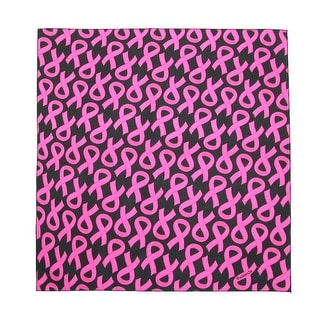 CTM® Women's Cotton Pink Ribbon Breast Cancer Awareness Bandanas - One Size