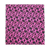 CTM® Women's Cotton Pink Ribbon Breast Cancer Awareness Bandanas