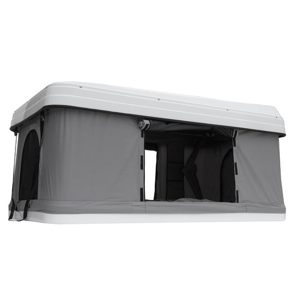 Trustmade White Hard Shell Light Gray Rooftop Tent 2mins Setup 100% Waterproof 50mm Mattress Pick Up Available 1 Piece / Carton. Opens flyout.