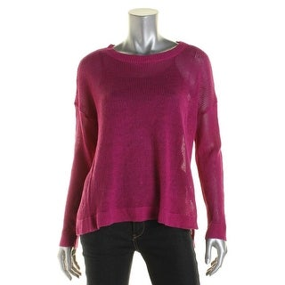 Eileen Fisher Womens sheer Open Stitch Pullover Top - S