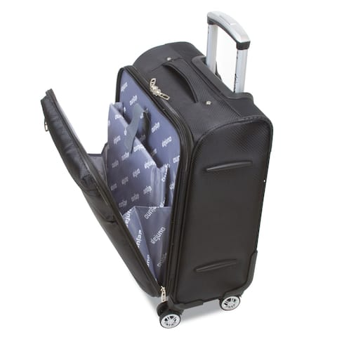 Office on Wheels Carry-on Luggage with Laptop Computer Compartment