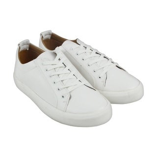 Steve Madden M-Ingle Mens White Leather Lace Up Sneakers Shoes