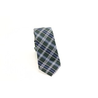 Black Brown 0596 NEW Green Blue Plaid Men's Classic Neck Tie Silk