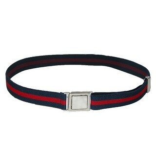 CTM® Kids' Easy Buckle Navy and Red Adjustable Stretch Belt - navy and red - One Size