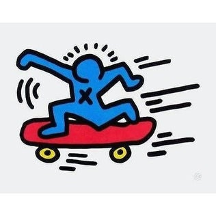 Skateboarder, Offset Lithograph, Keith Haring