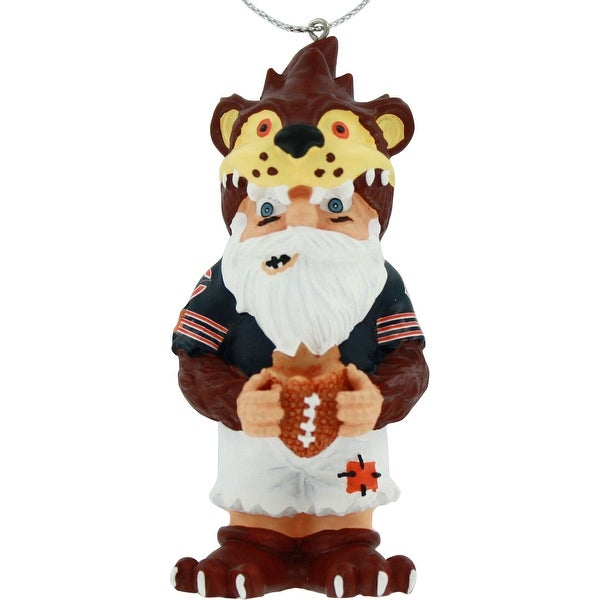 Chicago Bears Thematic Gnome Resin Christmas Tree Ornament