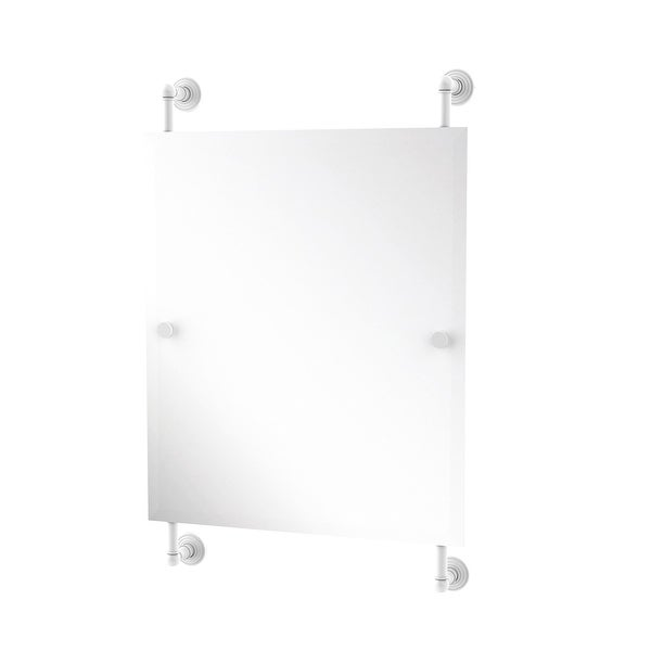 Allied Brass Waverly Place Collection Rectangular Frameless Rail Mounted Mirror