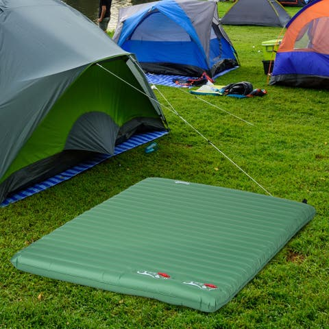 Outsunny Self-Inflating Comfortable Air Mattress / Sleeping Pad with Durable Design, Great for Camping or Family