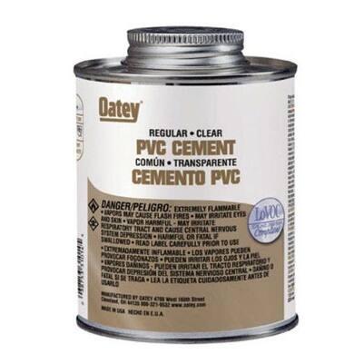Oatey 310153 PVC Regular Cement, 32 Oz, Clear