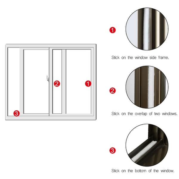 Door Seal Strip 11//32 inch x 3//16 inch x 16 Ft White Weather Stripping for Doors Adhesive Pile Window Weather Stripping Felt Door Sweep Wardrobe Brush Seal
