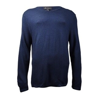 INC International Concepts Men's Tonal Stripe Sweater (Basic Navy, XL) - Basic blue - XL
