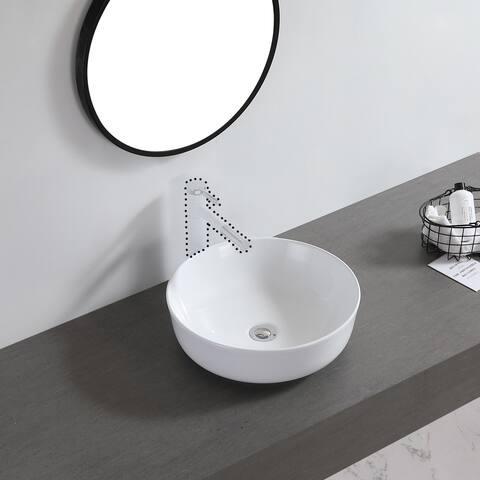 "Ceramic Basin Above Counter Basin Bowl Shape White - 7'6"" x 9'6"""