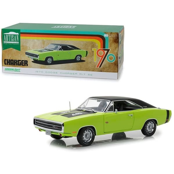 shop 1970 dodge charger r t se 440 sublime green with black top and black stripes 1 18 diecast model car by greenlight on sale overstock 28759889 1970 dodge charger r t se 440 sublime green with black top and black stripes 1 18 diecast model car by greenlight