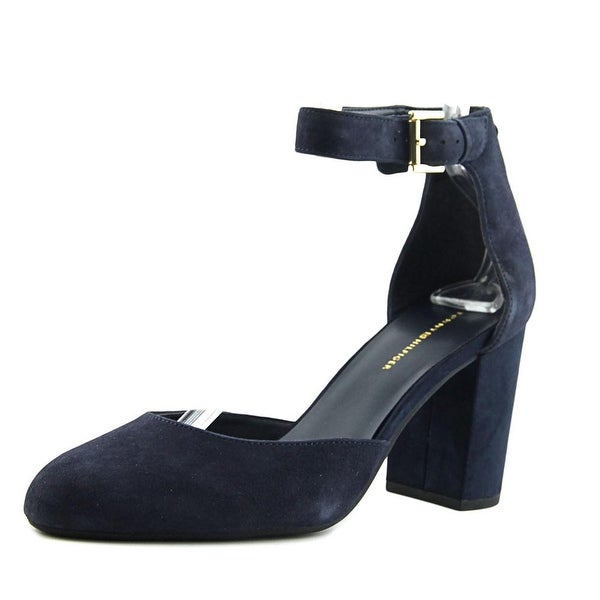 c59656bb4fb Shop Tommy Hilfiger Elona Round Toe Suede Heels - Free Shipping On ...