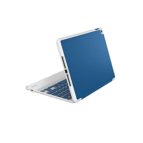 Zagg Folio Case, Hinged With Bluetooth Keyboard (Non Backlit) Protective Cover for iPad Air 2 - Blue