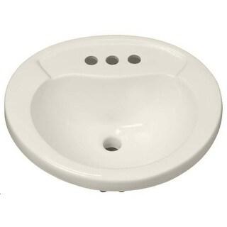 "Mirabelle MIRPR454 Provincetown 20"" Porcelain Drop In Bathroom Sink with Overflow"