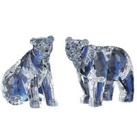 "Pack of 4 Icy Crystal Decorative Bears Figurines 5"" - Clear"