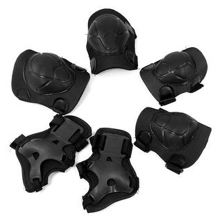 Unique Bargains Detachable Wheeled Sports Safety Protection Wrist Guard Elbow Knee Pads Set For Children