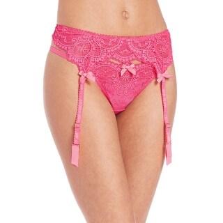 L'Agent By Agent Provocateur Womens Vanesa Garter Belt Neon Melon Pink