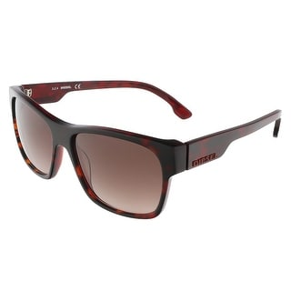Diesel DL0012/S 56F Havana Square sunglasses - 57-16-140