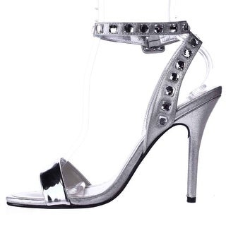 Caparros Womens cassidy Open Toe Casual Ankle Strap Sandals, Silver, Size 8.5