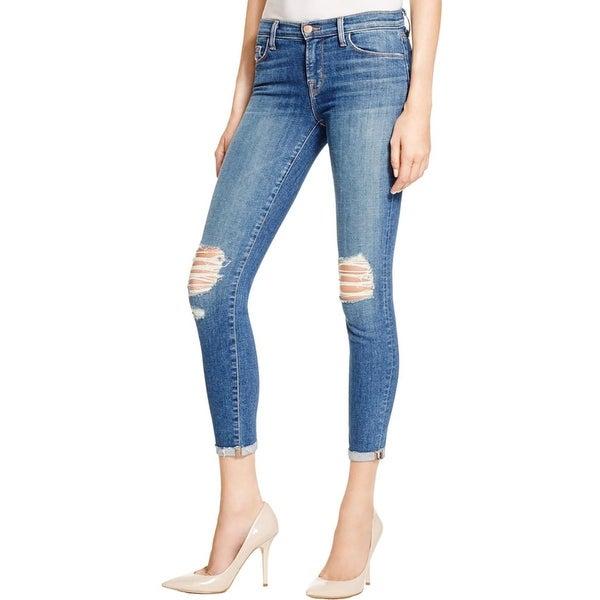 J Brand Womens Capri Jeans Denim Cuffed