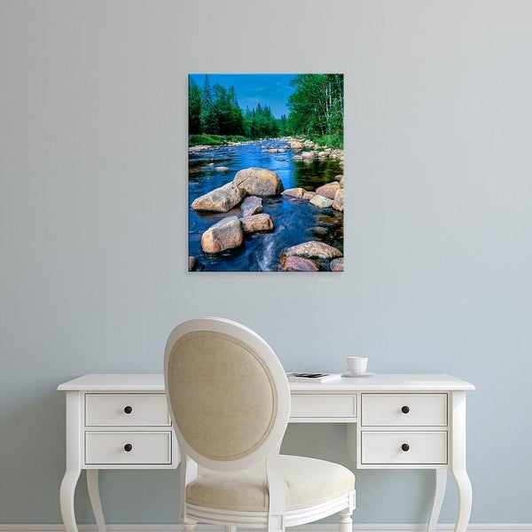 Easy Art Prints Panoramic Images's 'Ausable River, Lake Placid, Adirondack Mountains, Essex County' Canvas Art