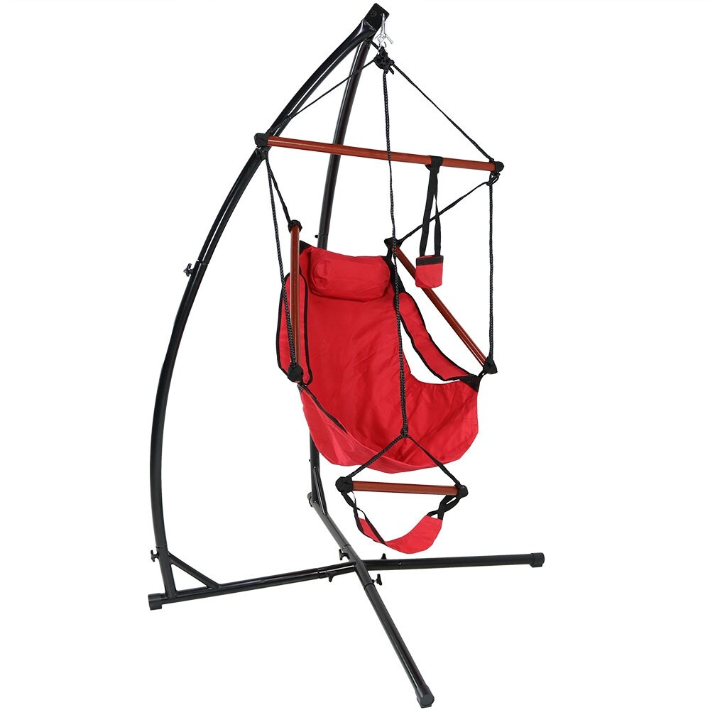 Sunnydaze Durable X-Stand and Hanging Hammock Chair Set or X-Chair Stand ONLY - You Choose - Thumbnail 15