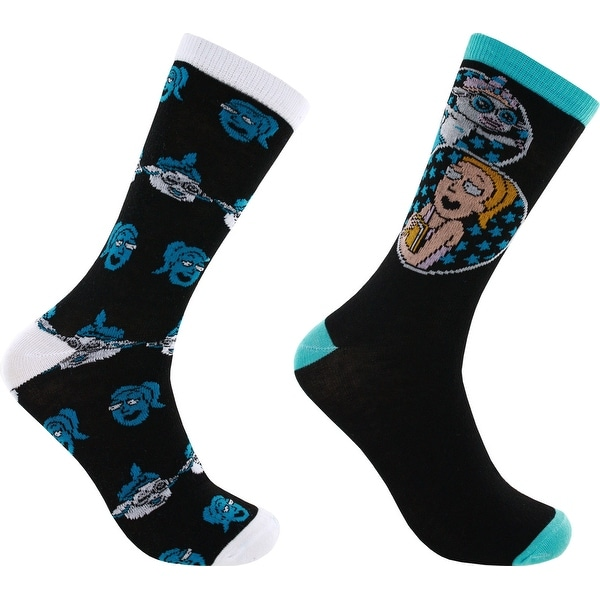 Rick and Morty Tinkles 2-Pack Casual Crew Socks, 6-12