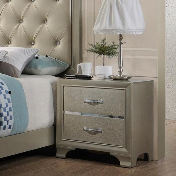 . Gymax Modern Bedroom Furniture Set Bed Dresser Mirror Chest Night Stand