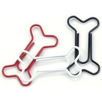"Red; White & Black - Painted Metal Dog Bone Paper Clips 1.125""X.5"" 15/Pkg"