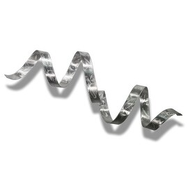 Statements2000 Silver Abstract Twist Metal Wall Art Sculpture Accent by Jon Allen - Silver Wall Twist
