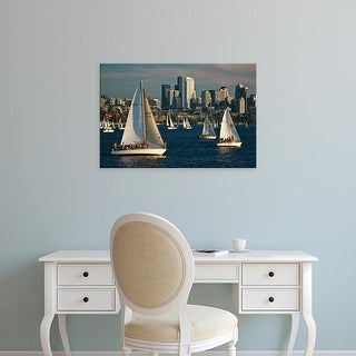 Easy Art Prints Charles Crust's 'Seattle Skyline' Premium Canvas Art