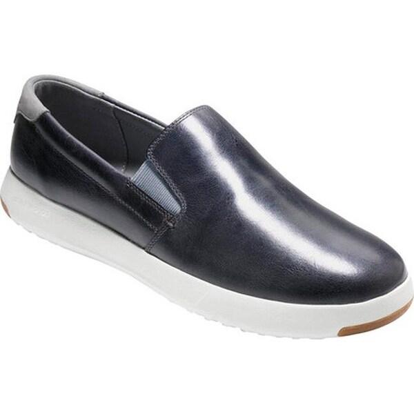 b7469c900d8b Cole Haan Men  x27 s Grandpro Slip On Sneaker Gray Pinstripe Leather Gray