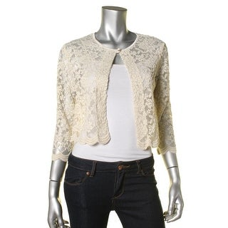 Connected Apparel Womens Sheer Lace Cardigan Top