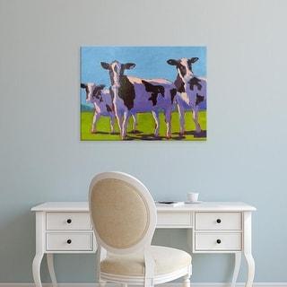Easy Art Prints Carol Young's 'Cow Pals IV' Premium Canvas Art