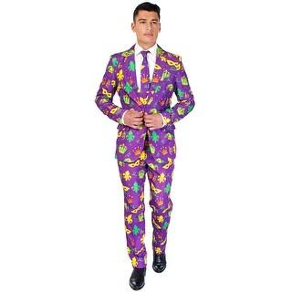 Oppo Suits Purple Mardi Gras Suit Adult Costume