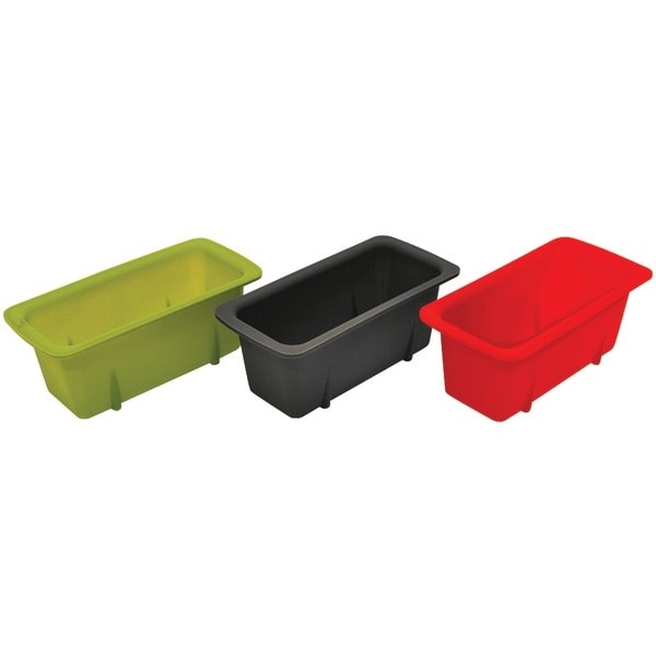 Starfrit 080335-006-0000 Silicone Mini Loaf Pans, Set Of 3