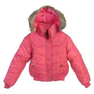 Little Girls Pink Knit Cuff Hem Faux Trimmed Hood Zipper Puffer Jacket 6|https://ak1.ostkcdn.com/images/products/is/images/direct/722c0809e072de72e861eb93e6c882f2fecf4084/Little-Girls-Pink-Knit-Cuff-Hem-Faux-Trimmed-Hood-Zipper-Puffer-Jacket-6.jpg?impolicy=medium