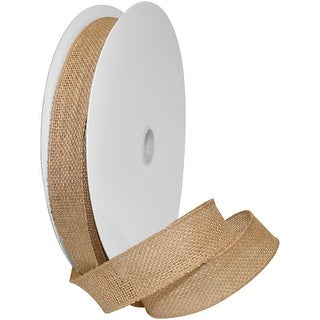 """Burlap Wired Ribbon 1.5""""X10yd-Natural"""