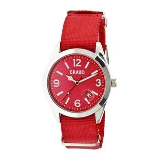 Crayo Sunrise Unisex Quartz Watch, Nylon Strap