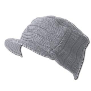 Grey Winter Flat Top Jeep Cap Hat