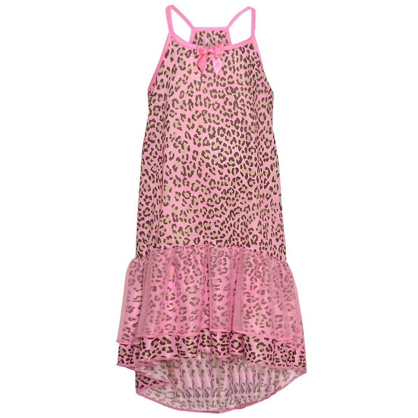 def7731a221b Shop Laura Dare Little Girls Pink Leopard Print Hi-Low Ruffle ...