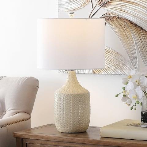 "SAFAVIEH Lighting Secia 25-inch LED Table Lamp - 14"" W x 14"" L x 25"" H"
