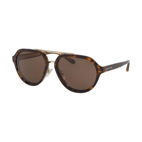Ralph Lauren RL8174 500373 57 Dark Havana Woman Irregular Sunglasses - Tortoise