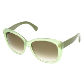 Alexander McQueen AMQ 4193/S K6H Light Green Square Sunglasses