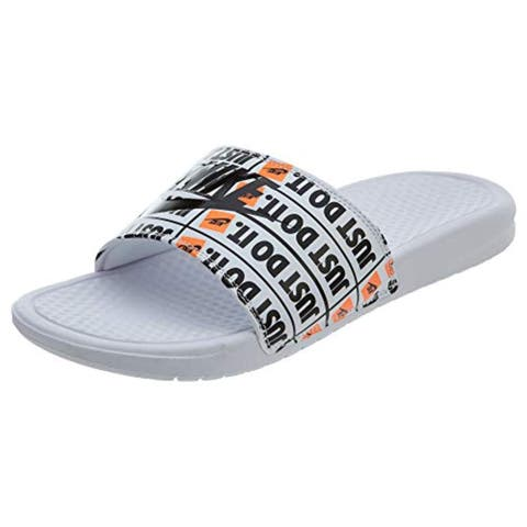 Nike Benassi JDI Print Mens Style: 631261-102 Size: 12 White/Black