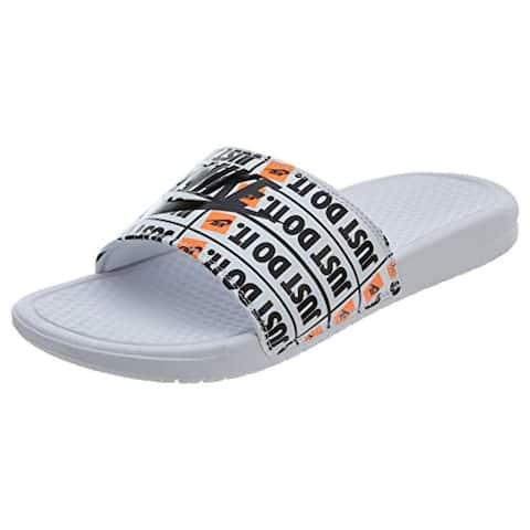 Nike Benassi JDI Print Mens Style: 631261-102 Size: 8 White/Black